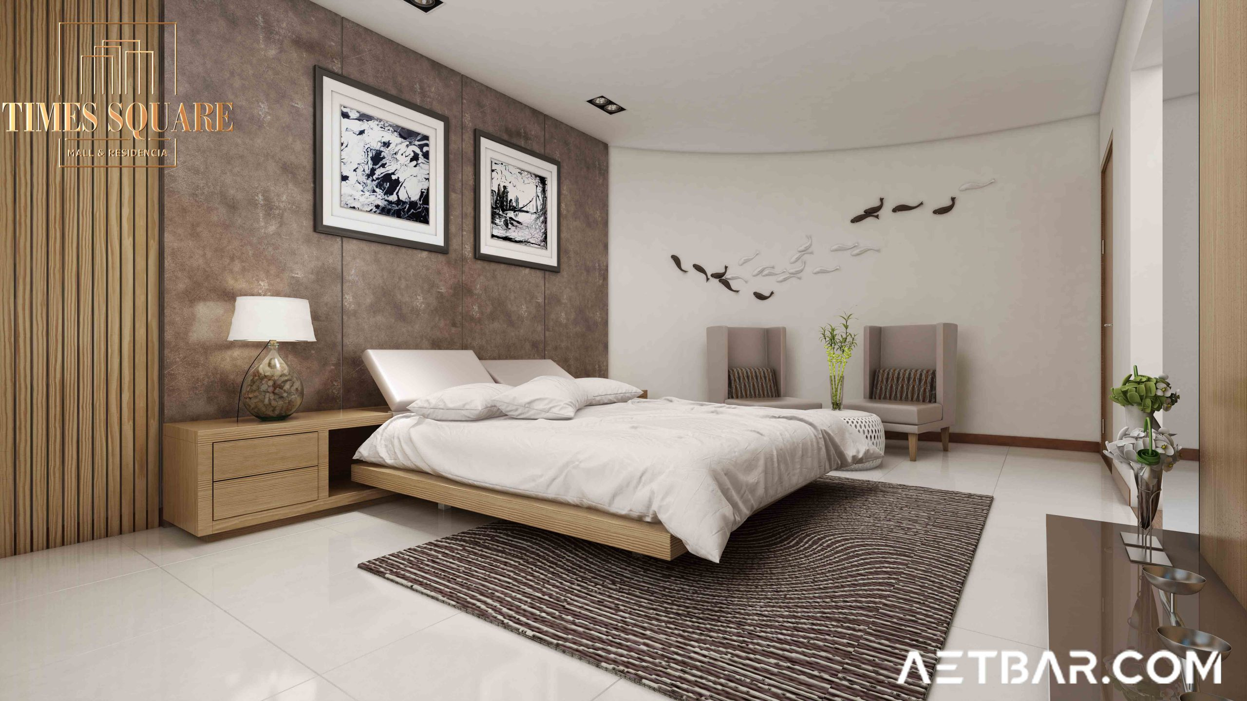 2 Bed Apartment for Installment – Times Square Mall & Residencia