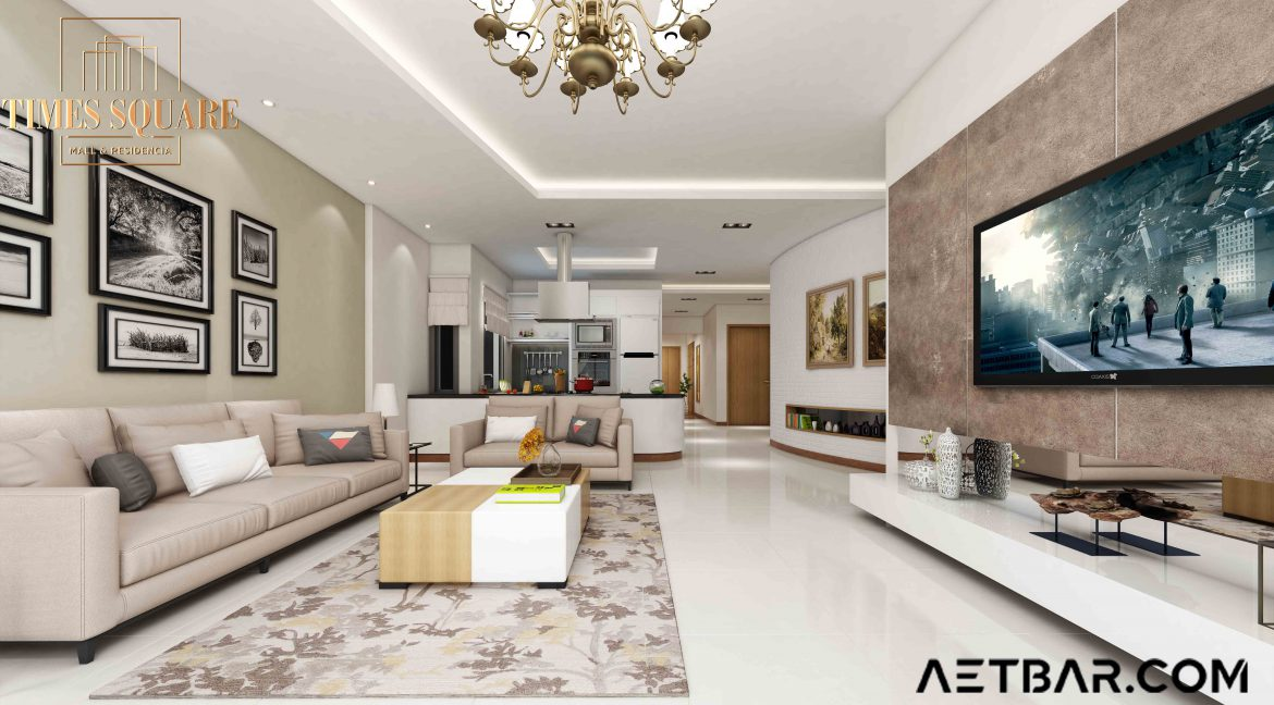 Aetbar.com Times Square Mall and Residencia Two Bed Apartment Bahria Orchard Lahore by Sheranwala Group